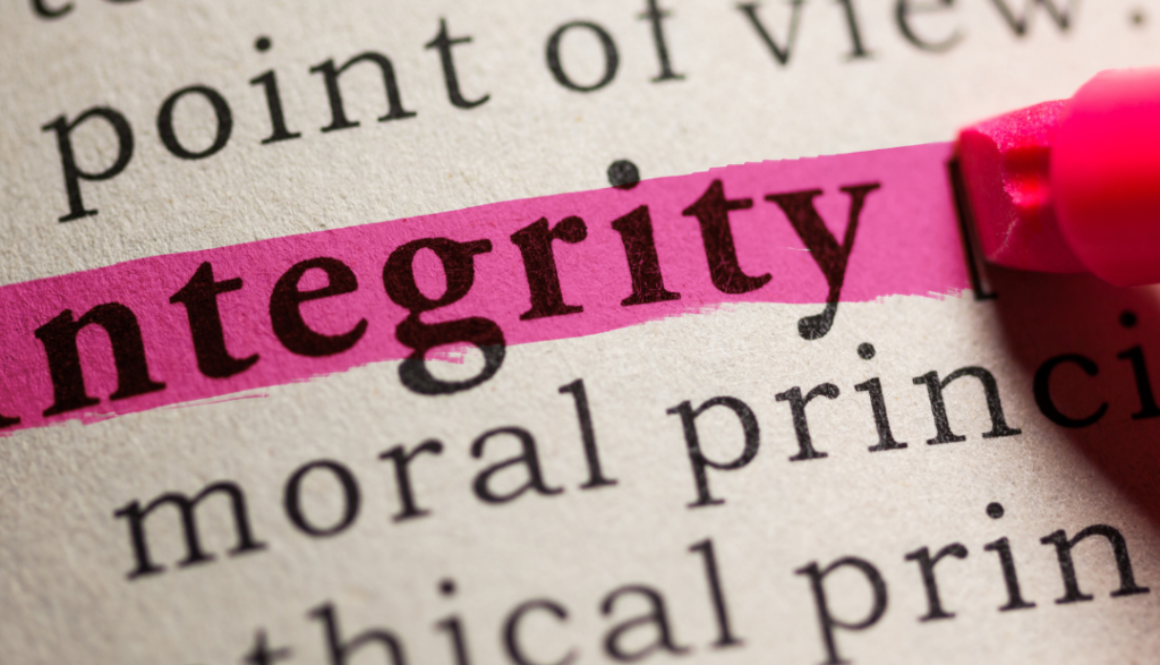 How We Give it Away…Ways We Can Lose Our Integrity
